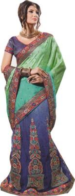 Kaveesha Embriodered, Self Design Bollywood Net, Chiffon Sari