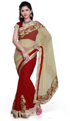 Sonani Exports Self Design Bollywood Chiffon Sari