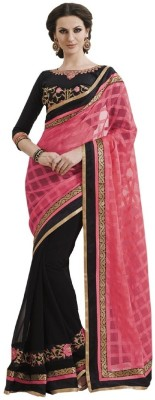 Mysticbeauty Embriodered Bollywood Georgette Sari