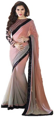 Vani Creations Embriodered Bollywood Handloom Georgette Sari