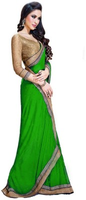Treadindia Self Design Bollywood Georgette Sari