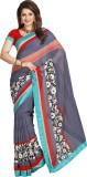 Yehii Striped Fashion Chiffon Saree (Gre...