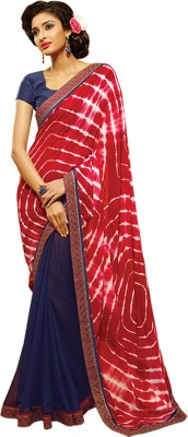 Hawwah Self Design Bandhej Georgette Sari