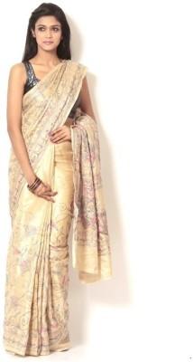 Brishti Creations Woven Kantha Handloom Cotton Sari