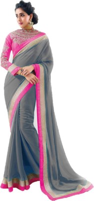 JK Creation Self Design Fashion Georgette Sari