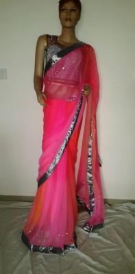 Hanis Solid, Self Design Fashion Handloom Net Sari