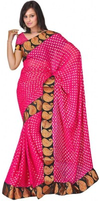MGS Embriodered Fashion Handloom Viscose Sari