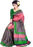 AJS Self Design Fashion Art Silk Saree (...