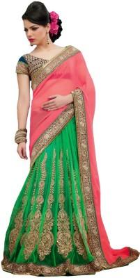 Rajshri Fashions Embriodered Fashion Net Sari
