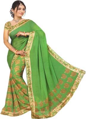 Fency Fession Plain, Printed Fashion Synthetic Fabric Sari