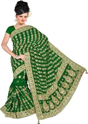Chandra Silk Mills Self Design Fashion Art Silk Sari