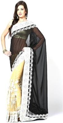Lime Fashion Printed Fashion Chiffon Sari