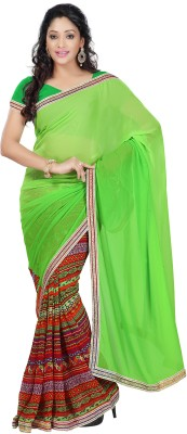 Green Moments Self Design Bollywood Jacquard Sari