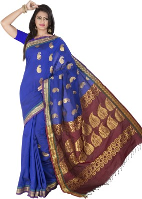 Dwiti Ethnic Solid Fashion Cotton Sari