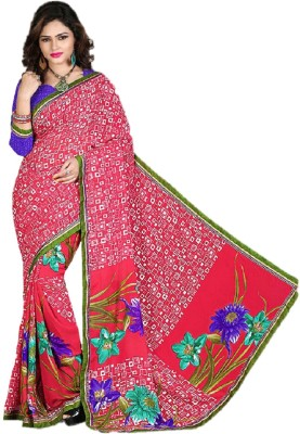 Gopika Creation Striped Daily Wear Georgette Sari