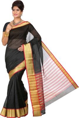 Right Shape Solid Bollywood Handloom Silk Cotton Blend Sari