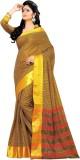 Aswani Checkered Fashion Cotton Saree (M...