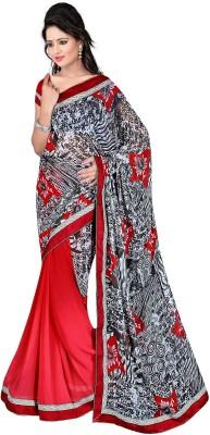 Lauren Creation Printed Daily Wear Georgette Sari