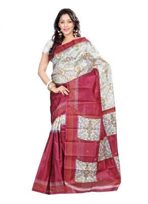 Shagun Prints Printed Daily Wear Art Silk Sari