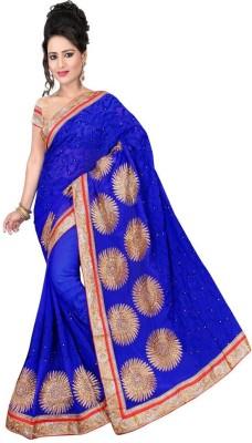 Nidhik Embriodered Fashion Synthetic Fabric Sari
