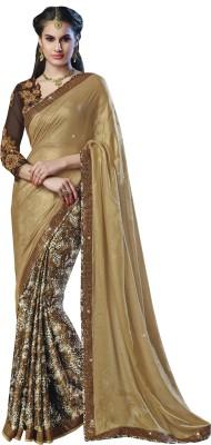 Moh Manthan Self Design Fashion Georgette, Shimmer Fabric, Crepe Sari
