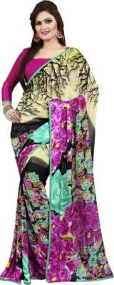 MannMohh Printed Daily Wear Chiffon Sari