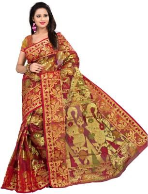 Pichkaree Self Design Banarasi Handloom Banarasi Silk Sari
