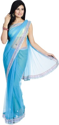 Divas Designerz Self Design Fashion Net Sari