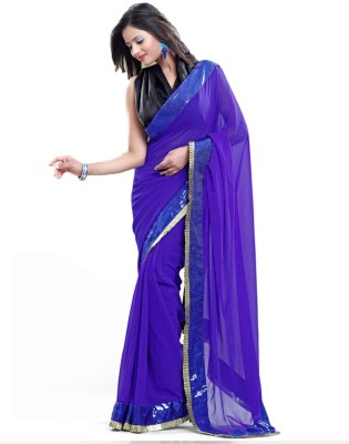 First Lady Embriodered Daily Wear Georgette Sari