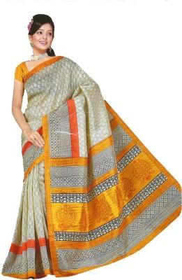 Bdow Printed Bhagalpuri Silk Cotton Blend Sari