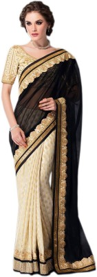 Shoppingover Embriodered Bollywood Georgette Sari