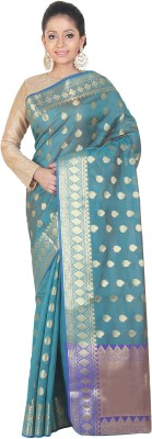 SSPK Embellished Banarasi Handloom Art Silk Sari