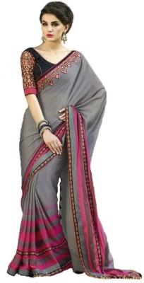 Imago Self Design, Embriodered Fashion Georgette Sari