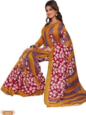 Hi-Choice Printed Daily Wear Art Silk Sari
