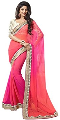 Giftsnfriends Embriodered Bhagalpuri Georgette Sari