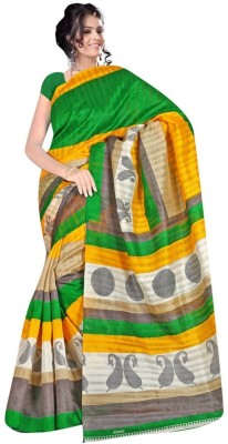Awesome Fab Printed Bhagalpuri Art Silk Sari