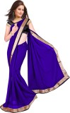 Mahadevi Solid Bollywood Chiffon Saree (...