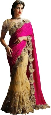 Granth Embriodered Bollywood Net Sari