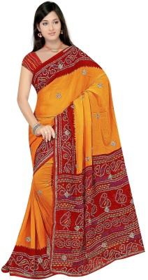 Atmiyaz Printed Bandhej Georgette Sari