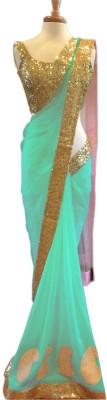 mGm Creation Self Design Fashion Georgette Sari