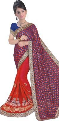 Lata Embriodered, Embellished Fashion Chiffon, Brasso Sari