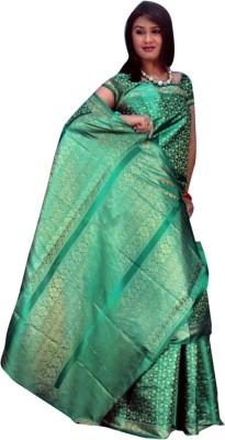 Anam Self Design Banarasi Silk Sari