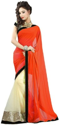 Aamrapali Graphic Print Bhagalpuri Chiffon Sari