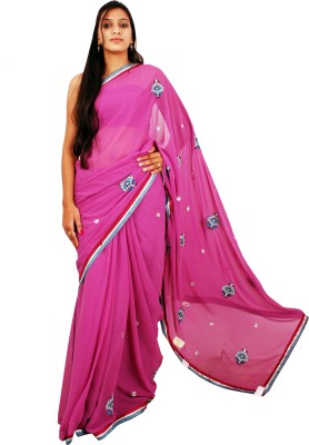 Shree Ji Embriodered Daily Wear Georgette Sari