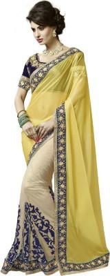 Pihar Embriodered Bollywood Lycra Sari