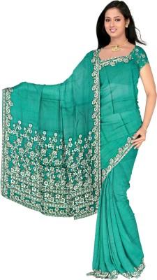 Kothari Self Design Banarasi Crepe Sari