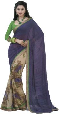 Shilpkar Floral Print Fashion Chiffon Sari