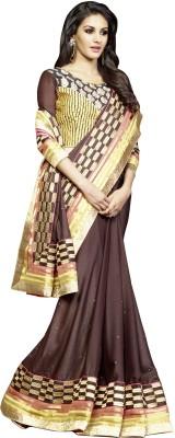 She Fashion Embriodered Fashion Satin Sari