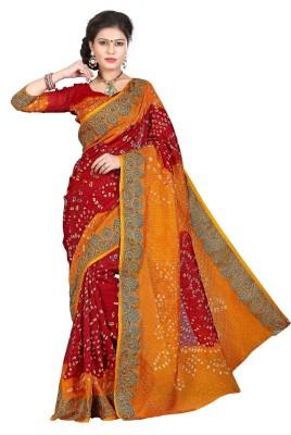 Morpankh Enterprise Embriodered Bandhani Art Silk Sari