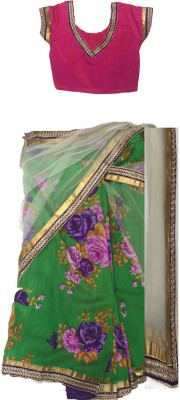 Aglare Printed Fashion Net Sari